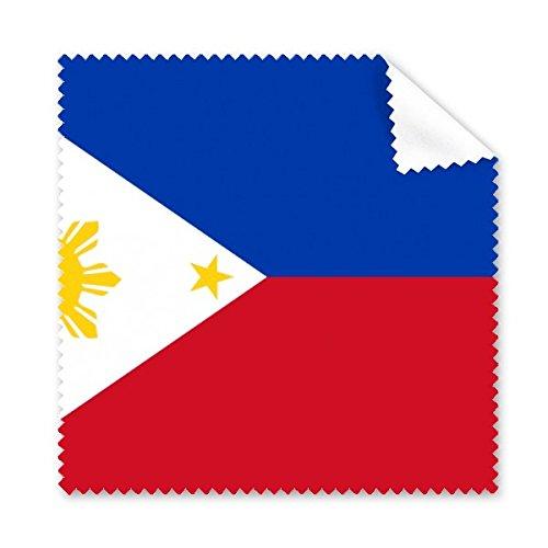 Philippinen National Flagge Asien Country Symbol Mark Muster Brille Reinigungstuch Reinigungstuch Handy-Display von 5x