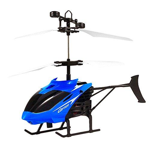 Bolange Induktions-Hubschrauber Dual-Mode-Fernerkundung Sensor Anti-Drop-USB-Lade-Fernbedienung Flugzeug Kinder blau -