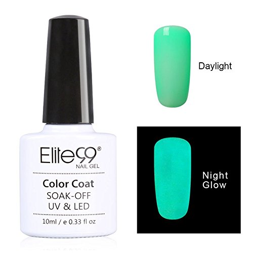 Elite99 UV Nagellack Nail Gel Polish Neon Fluorescent Leucht Effekt Nagelgel NEU Soak-off UV LED(1x10ML)