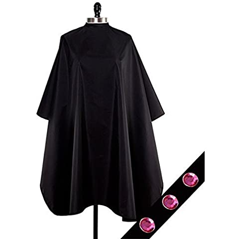 Cover N Style Pink Midnight Black Oversized Unisex Color Cape 55 x 58 Inches by Cover N Style Salon Capes