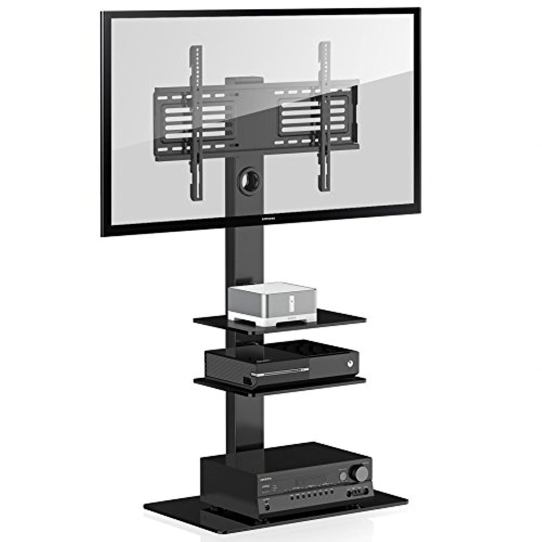 5d09462b9fcebc FITUEYES Meuble TV Pied Support Pivotant pour Téleviseur Ecran LCD DE 32 à 50  Pouce LED Plasma TT106001MB