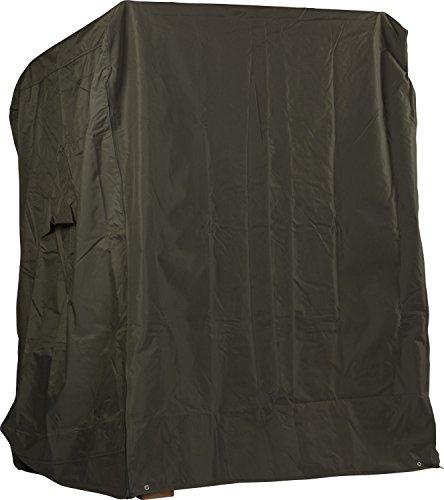 WODEGA Universelle wetterfeste Premium Strandkorbhaube Strandkorbhülle Grün 600 D Oxford Ripstop Polyester 130x160x100cm Strandkorb Schutzhülle