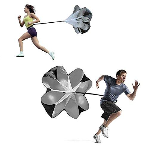 Tailcas® Verstellbare Sport Chute Widerstands Fallschirm Lauf Resistance Fallschirm Geschwindigkeitstraining Speed Widerstand Trainings Perfekt für Laufen, Sport, Fitness, Sprints