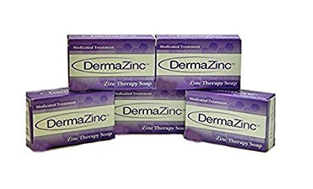 Dermalogix DermaZinc Zinc Therapy Soap Medicated Treatment - 5 Bars NEW LARGER SIZE