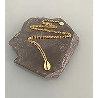 Collana in oro 24k placcato, Collana in oro, Idea regalo, Gioielli conchiglia, Gioielli regali, Gioielli donna in oro, Idea regalo donna, Gioielli in oro, Collana in oro