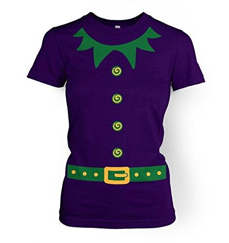 Elf Ladies' T-shirt (green detail) Violett
