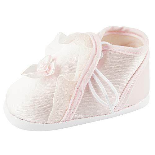 Toma Taufschuhe Baby Schuhe Leder Sandalen Taufe Junge Mädchen Lauflernschuhe Rosa Größe 9cm