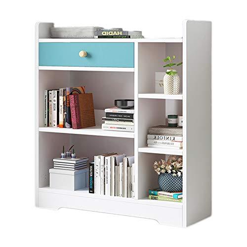 SqsYqz Boden-bücherschrank des Bücherregals Kreative Schließfachwohnzimmerstudie des Einfachen Modernen Unbedeutenden Speicherregals,White,D -