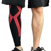 Liteness Deportes Protector de Rodilla, Compresión elástica Muslo Calf Pierna Protector, Brace Baloncesto al