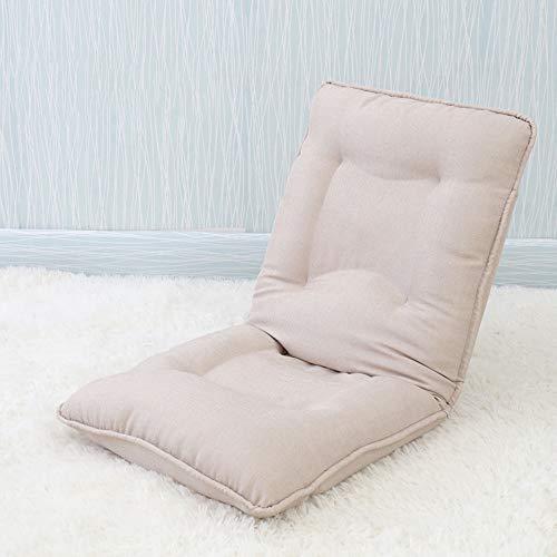 Lounge Sofa Bett Faltbare Verstellbare Boden Liege Schlafsofa Futon Matratze Sitz Stuhl Gaming Chair (Farbe : Cremeweiß)