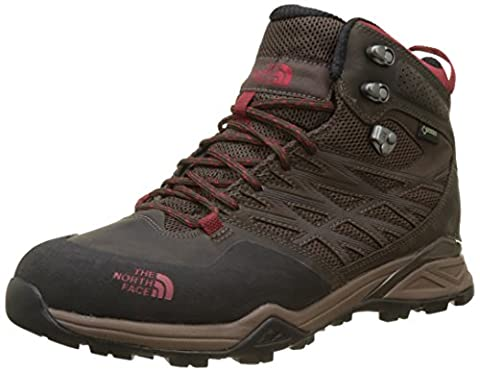 The North Face Men's Hedgehog Mid Gore-Tex High Rise Hiking Boots, Multicolour (Demitasse Brown/Rudy Red), 9 UK 43 EU