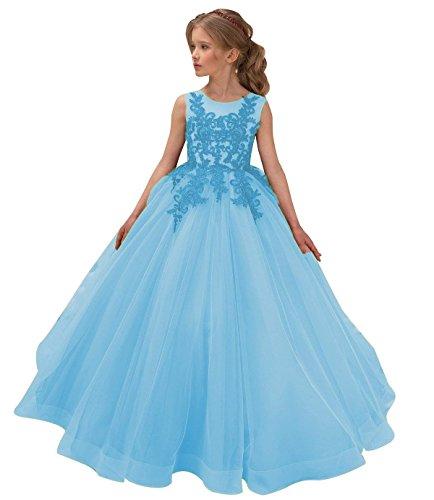 Beyonddress Mädchen Hochzeit Blumenmädchen Kleider Applikationen Kinderkleid Kommunionkleid...