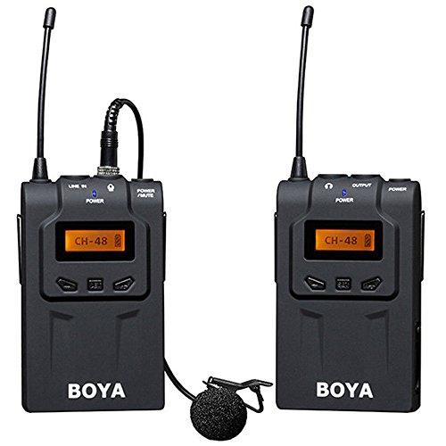 Yunchenghe BOYA by-WM6 UHF Microphone sans Fil DSLR Caméra sans Fil Microphone Ensemble Omnidirectionnel Microphone Lavalier sans Fil Microphone 48 canaux ENG, EFP, DV, Caméras DSLR Vidéo Caméscope