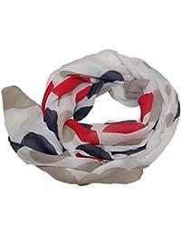 Seidenschal Seide Halstuch Schal Kreise Punkte Cotton Tuch