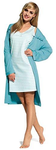 L&L Femmes Robe de Chambre Janet Bleu
