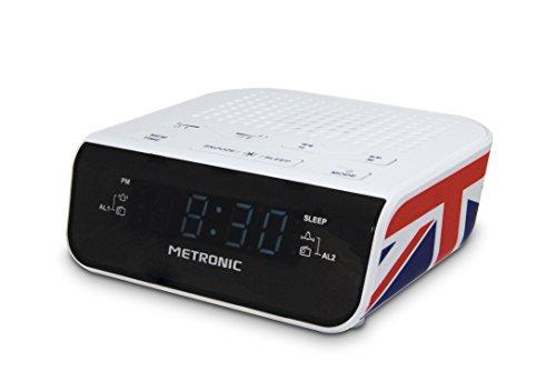 Metronic 477009 Radio / Radio-Réveil Union Jack Double Alarme