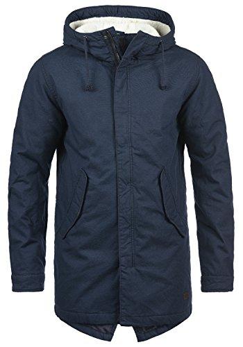 PRODUKT Pieder Herren Parka Lange Winterjacke mit Kapuze aus 100% Baumwolle, Größe:XL, Farbe:Navy Blazer (Neue Samt-blazer)
