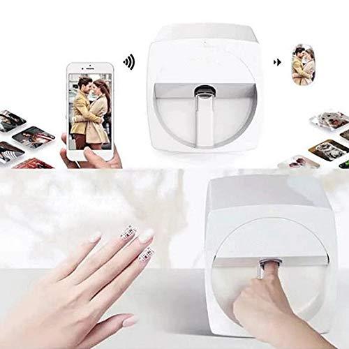 DXXCV Impresoras de Clavos en 3D Máquina de Pintura portátil Transferencia inalámbrica móvil automática Digital All-Intelligent Impresora de uñas WiFi Transferencia inalámbrica 100-240V