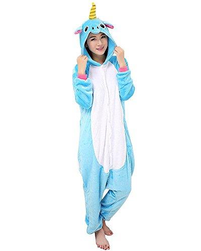 Coolchange tuta da unicorno, azzurro, taglia: m