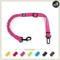 [Gesponsert]Pets&Partner Hunde Autogurt/Sicherheitsgurt in verschiedenen Farben passend zu Halsband und Geschirr, Pink