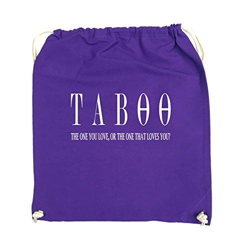 Comedy Bags - TABOO - LOGO2 - Turnbeutel - 37x46cm - Farbe: Schwarz / Pink Lila / Weiss