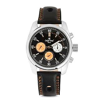 Oskar Emil Reloj cronógrafo para Hombre de Cuarzo con Correa en Piel Regal Black/Orange