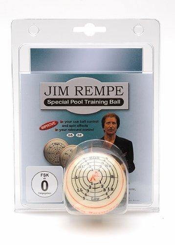 Jim Rempe Pool-Trainingsball 57,2mm Aramith inkl. DVD und Buch