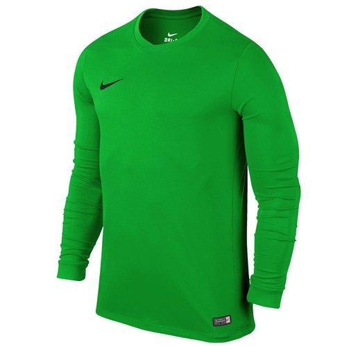 Nike Ls Park Vi Jsy, Maglietta a maniche lunghe da uomo, Verde (Hyper Verde/Black), L