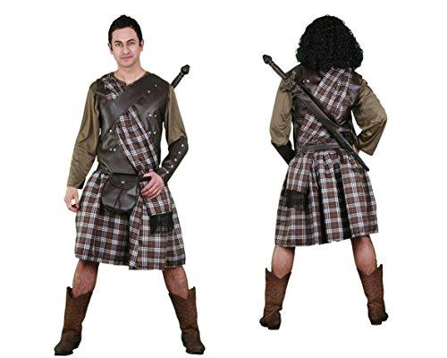 Imagen de disfraz de guerrero escocés para hombre talla m l