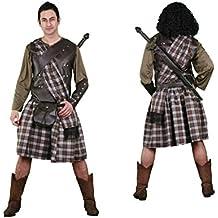 Disfraz de Guerrero Escocés para hombre talla M-L