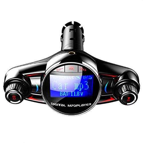 Lebron ray Auto MP3-Player Bluetooth FM-Transmitter, QC3.0 Schnellladung Kann Freihändig Sein, Voice-Broadcast-Unterstützung U-Disk/TF-Karte, Power-Off-Memory-Funktion -