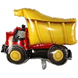 """The Banner Company's Red/Black and Yellow Dump Truck 17"""" for A Vehicle / Construction Theme Birthday/ Party/ Kids Playdate De"""