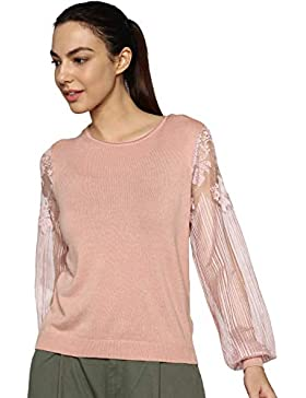 Only Onlviktoria L/S Lace Pullover Knt, suéter para Mujer