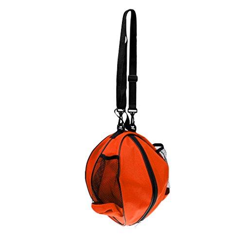 MagiDeal Wasserdichte Fußballtasche Basketball Tasche Volleyball Tasche mit Schultergurt, Tragbar, Wasserabweisende Balltasche, Sporttasche - Orange
