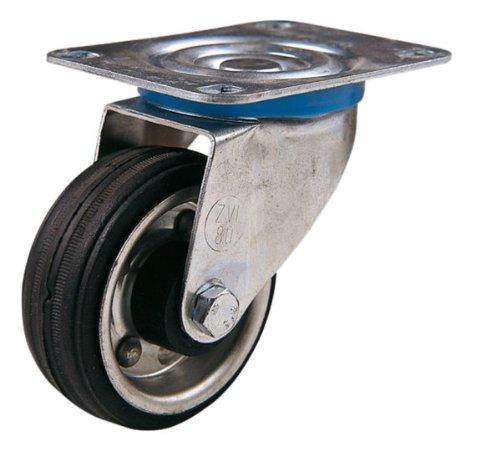 Alex 634A80-Reifen Gummi mit Rollen schwenkbar 80