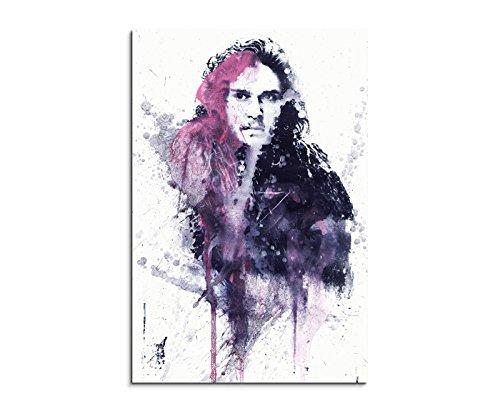 Paul Sinus Art Game_of_Thrones_Jon_Snow_90x60-SA Wandbild Leinwand, 90 x 50 x 3 cm, Mehrfarbig