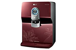 LG Puricare WW170EP RO + UV + Mineral Booster Water Purifier with Dual Protection Stainless Steel Tank, Red