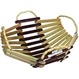 Classic Shoppe Wooden Handmade Multi Color Fruit Basket With Handle -pack Of 2