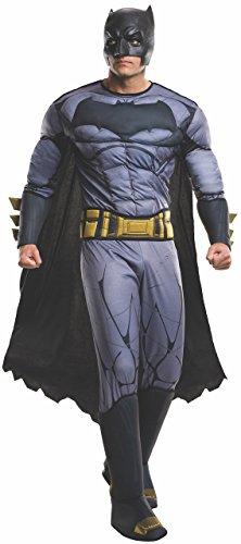 Original Lizenz Dawn Of Justuce Batman Deluxe Kostüm Blau für Herren - Größe XL (Blau Batman Kostüme)