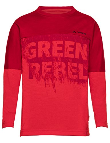 Vaude Kinder Kids Fulmar Long Sleeve Shirt II T-Shirt, Energetic Red, 158/164