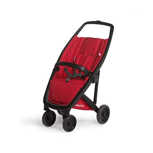 Greentom Classic UPP Lightweight Stroller, Adapters and Rain Cover For 6 Months upto 4.5 Years, Red Greentom High quality lightweight stroller by the brand Greentom Made of high quality (recycled) materials the first green stroller on planet earth Includes, chasisis, seat fabric, canopy, basket, raincover and car seat adapter 2