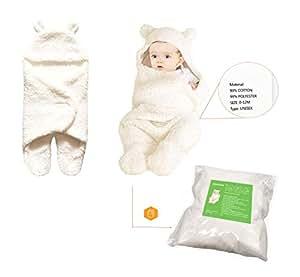 kohmui neugeborene baby schlafsack wei decke f r 0 12 monate baby wickeldecke geschenk zur. Black Bedroom Furniture Sets. Home Design Ideas
