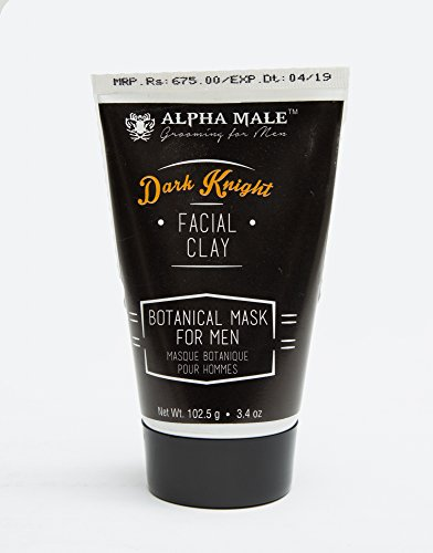Alpha Male Grooming Dark Knight- Botanical resurfacing charcoal mask for MEN  (102.5 g)