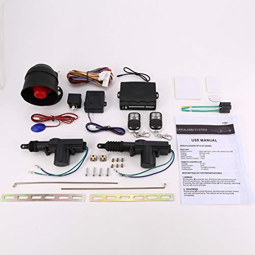 LouiseEvel215 Universal Auto Alarm Fernbedienung Sicherheitssystem 2 Tür Zentralverriegelung Locking Kit Set Keyless Entry System (Keyless-entry-tür-kit)