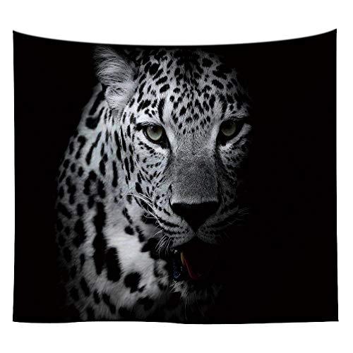 jtxqe Schwarz-Weiß-Tier Tapisserie Wandbehang Tuch 4 150 * 130cm