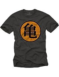 Roshi´s GYM T-Shirt Son Goku grau Größe S-XXL