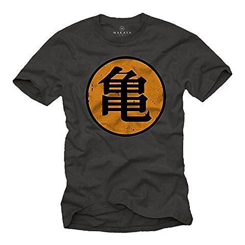 Roshi's Gym T-Shirt Son Goku Dragon Grey Size XL