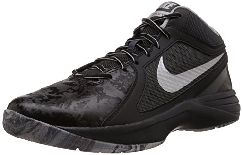 Nike - The Overplay Viii, Scarpe Da Basket da uomo Nero (blk/mtllc slvr-anthrct-flt slv 015)