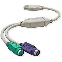 Cable Adaptador Conversor USB Doble a PS2 to PS/2 para Teclado y Raton x2 2049