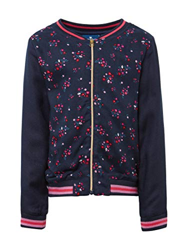 TOM TAILOR für Mädchen Strick & Sweatshirts Bomberjacke mit Blumenmuster Dress Blue|Blue, 116/122